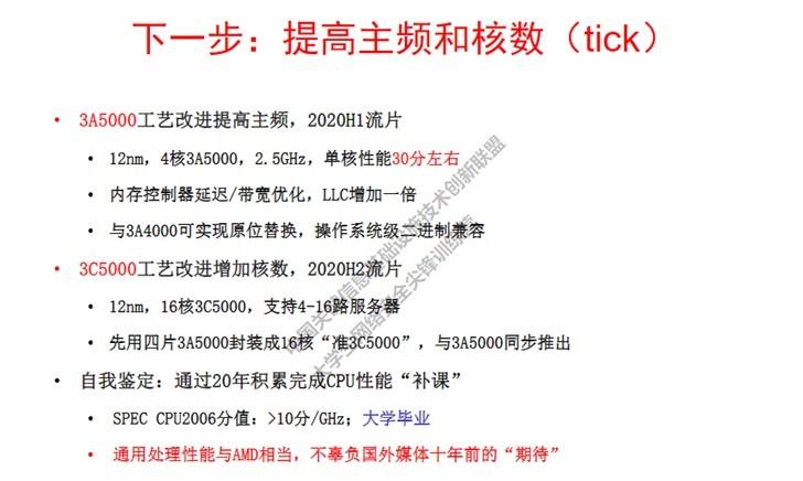 龙芯 3A5000 CPU 上半年流片:12nm 工艺,4 核 2.5GHz